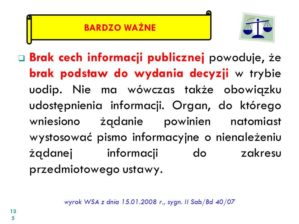 wyrok WSA z dnia 15.01.2008 r., sygn. II Sab/Bd 40/07