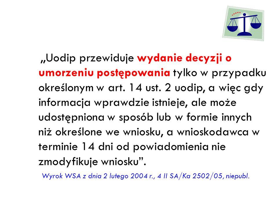 Wyrok WSA z dnia 2 lutego 2004 r., 4 II SA/Ka 2502/05, niepubl.
