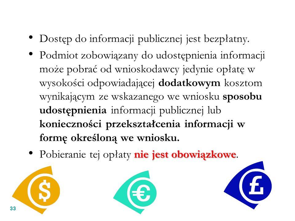 Dostęp do informacji publicznej jest bezpłatny.