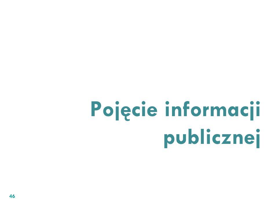 Pojęcie informacji publicznej