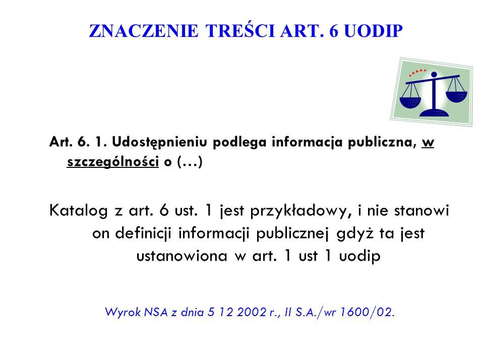 ZNACZENIE TREŚCI ART. 6 UODIP