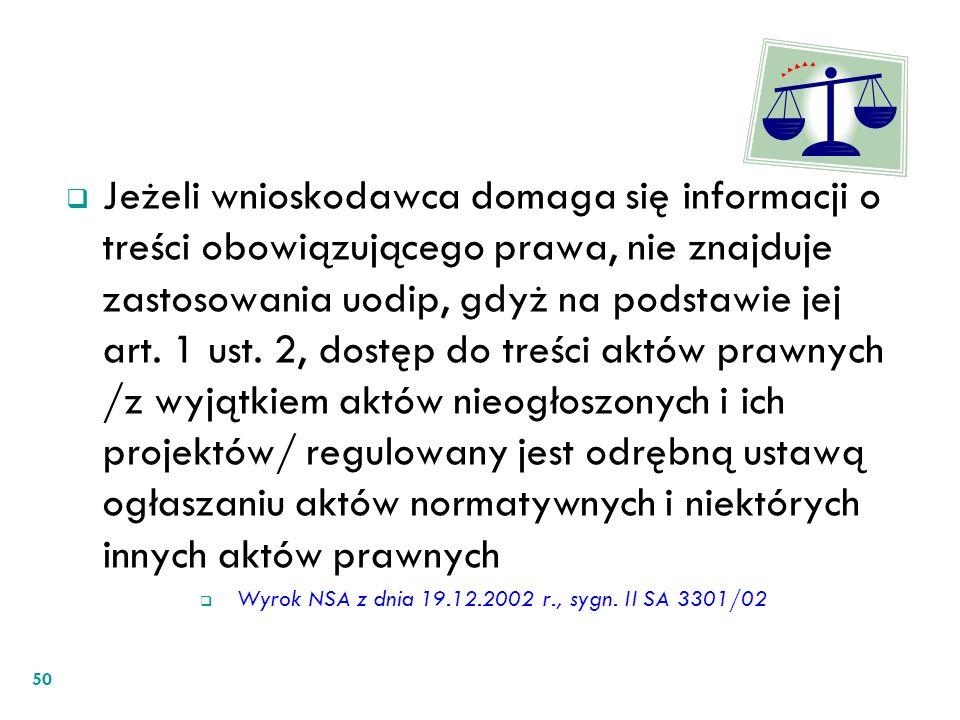 Wyrok NSA z dnia 19.12.2002 r., sygn. II SA 3301/02