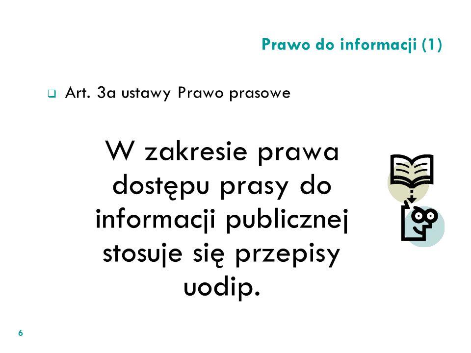Art. 3a ustawy Prawo prasowe