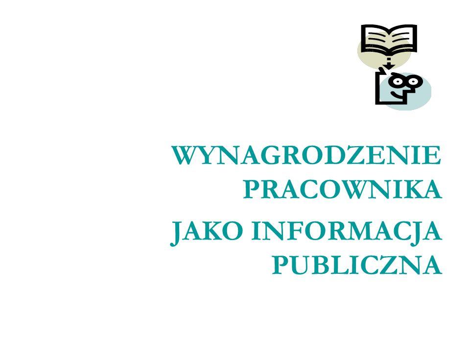 JAKO INFORMACJA PUBLICZNA