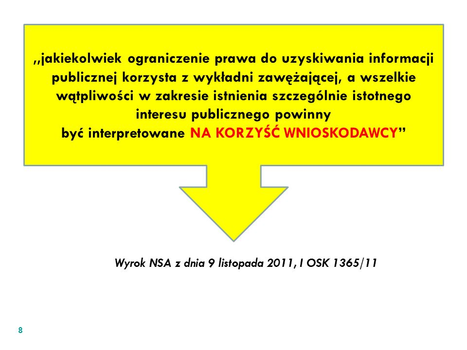 Wyrok NSA z dnia 9 listopada 2011, I OSK 1365/11