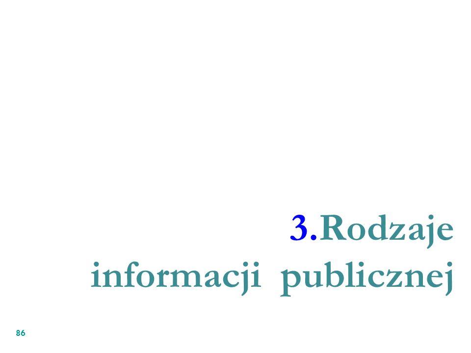 3.Rodzaje informacji publicznej