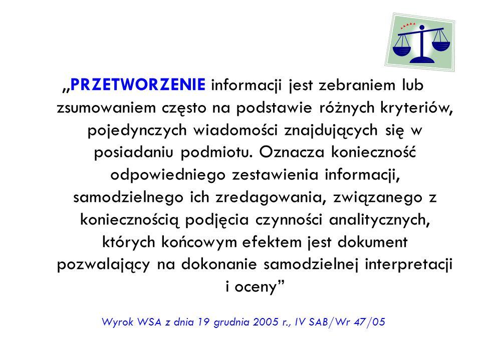 Wyrok WSA z dnia 19 grudnia 2005 r., IV SAB/Wr 47/05