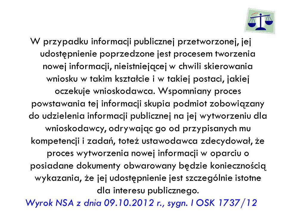 Wyrok NSA z dnia 09.10.2012 r., sygn. I OSK 1737/12