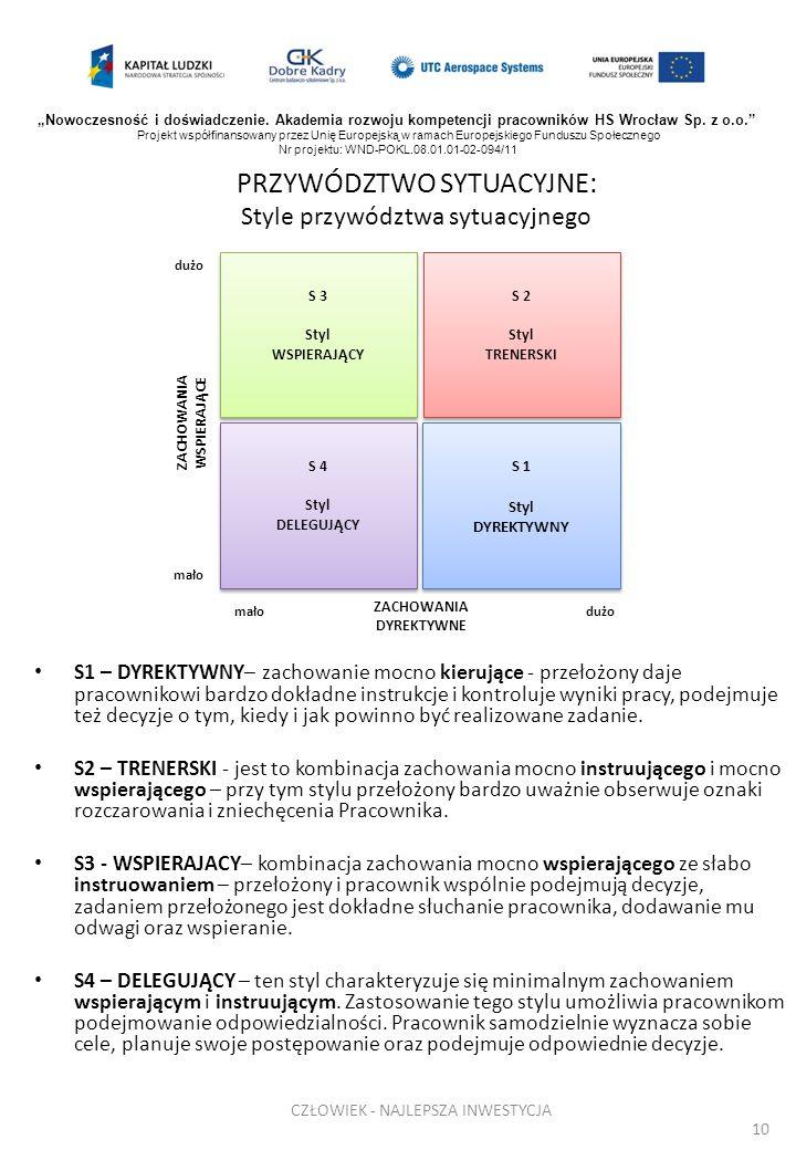 PRZYWÓDZTWO SYTUACYJNE: Style przywództwa sytuacyjnego