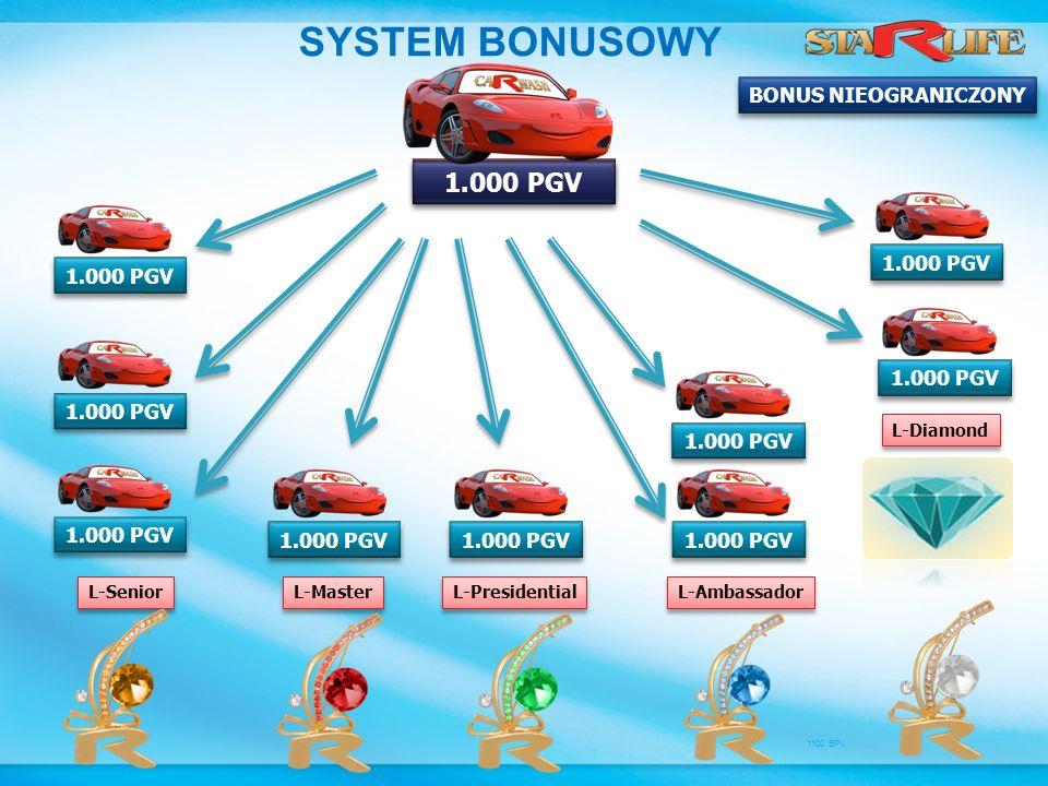 SYSTEM BONUSOWY 1.000 PGV 2.000 PGV BONUS NIEOGRANICZONY 1.000 PGV