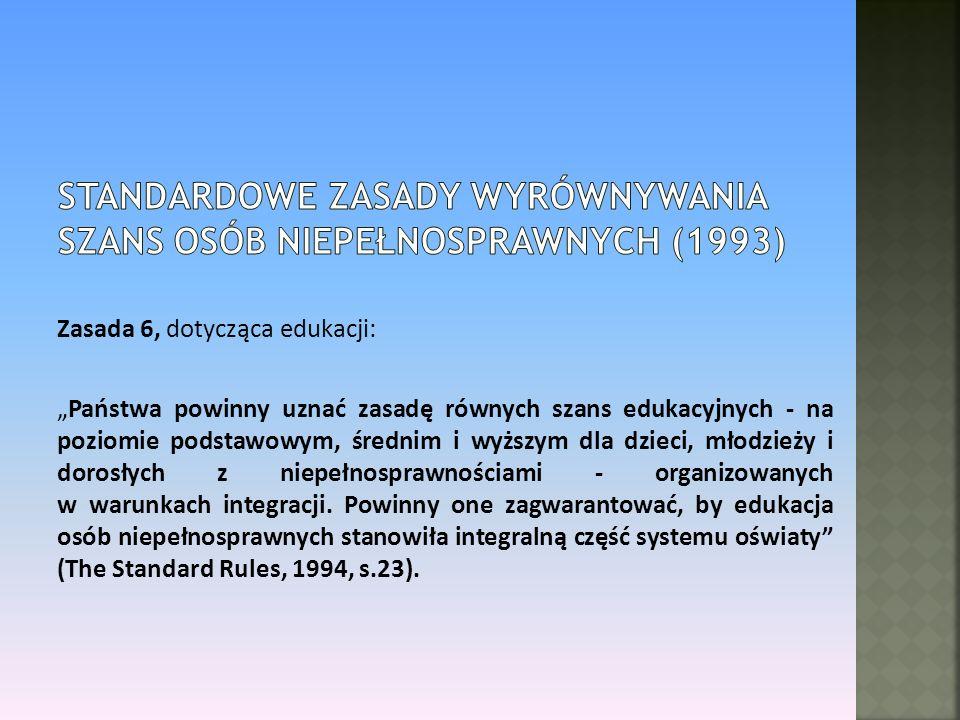 Standardowe Zasady Wyrównywania Szans Osób Niepełnosprawnych (1993)