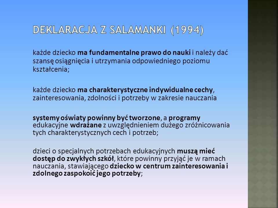 Deklaracja z Salamanki (1994)
