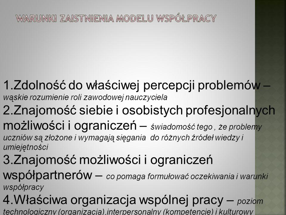 Warunki zaistnienia modelu współpracy