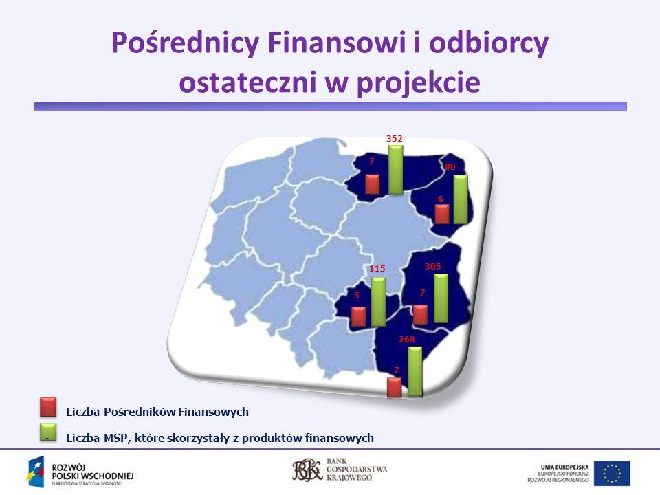 Pośrednicy Finansowi i odbiorcy ostateczni w projekcie