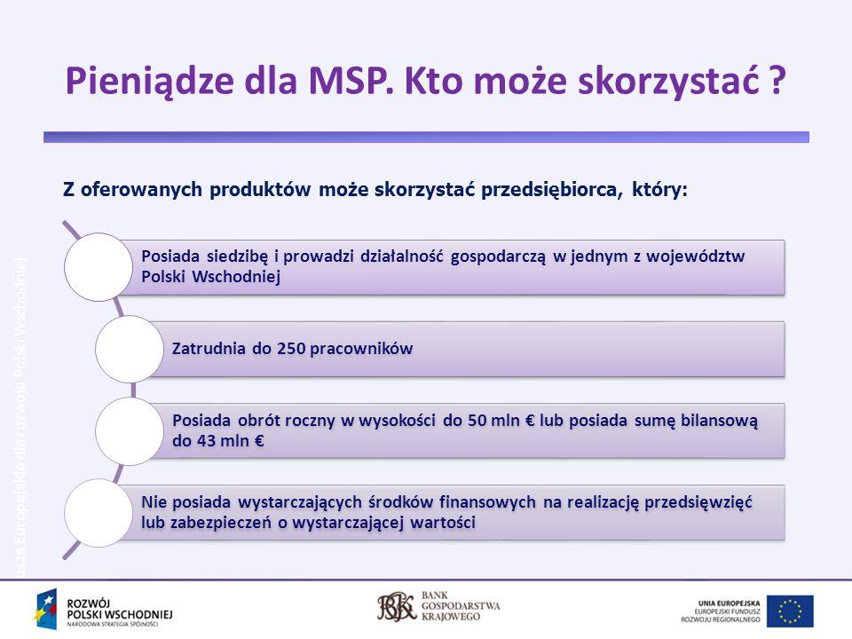 Pieniądze dla MSP. Kto może skorzystać
