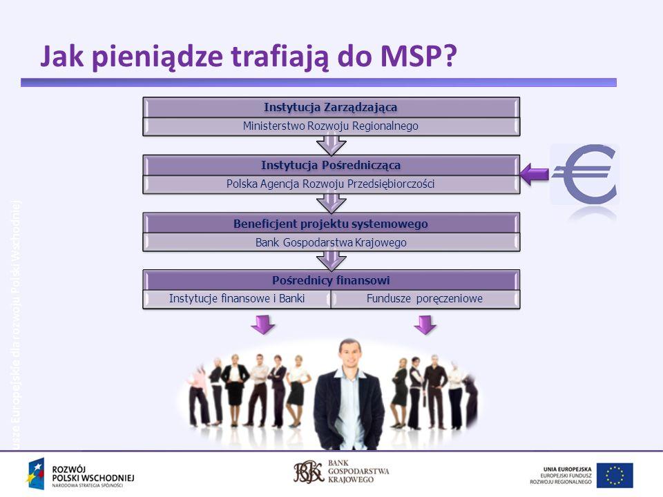 Jak pieniądze trafiają do MSP