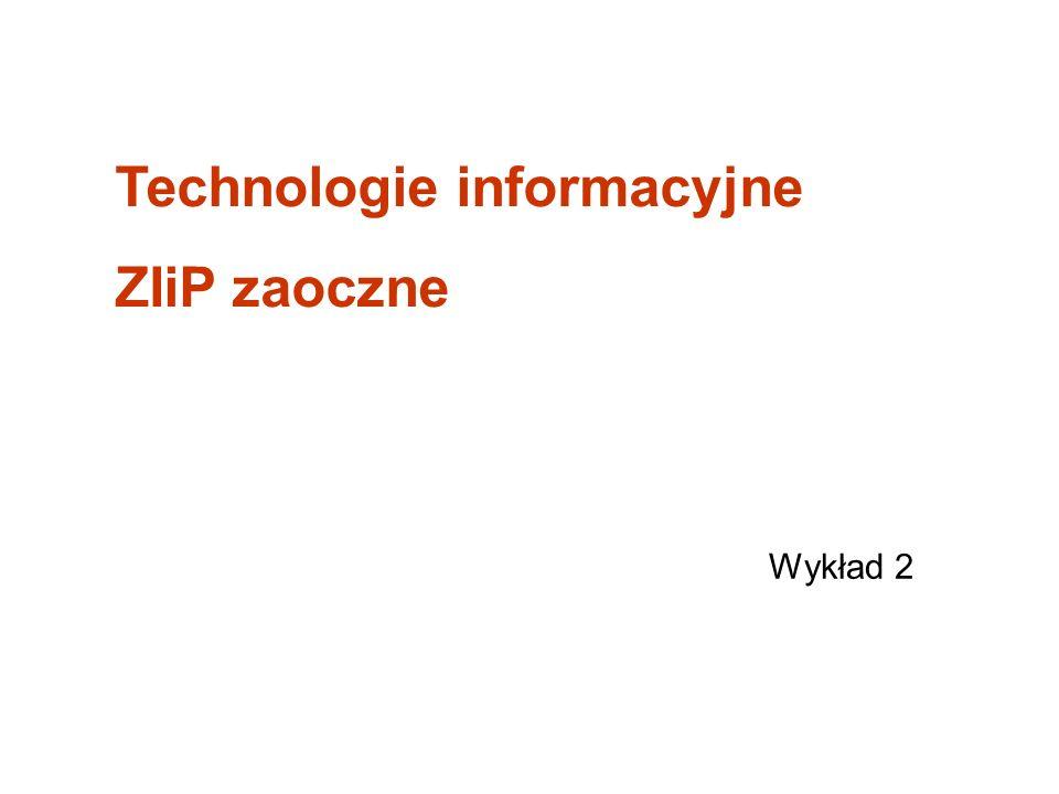 Technologie informacyjne ZIiP zaoczne