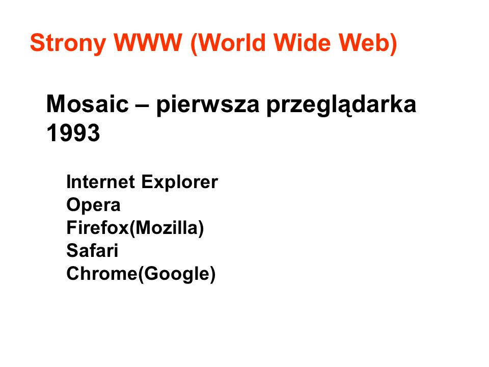 Strony WWW (World Wide Web)
