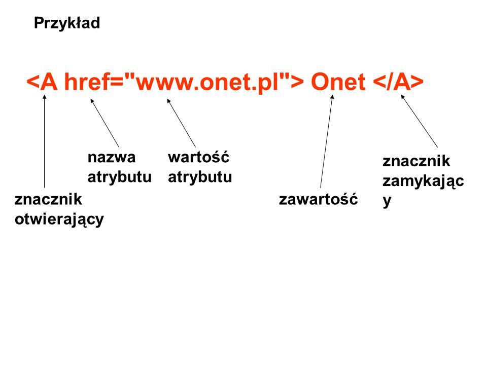 <A href= www.onet.pl > Onet </A>