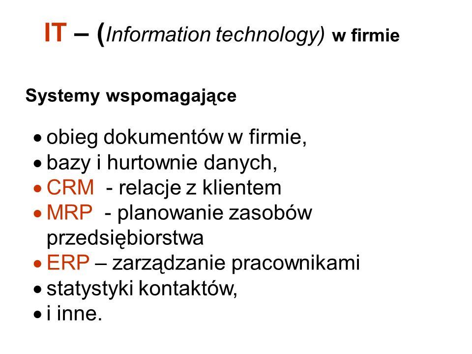 IT – (Information technology) w firmie