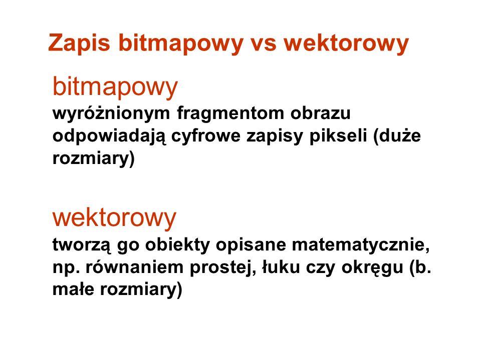 Zapis bitmapowy vs wektorowy