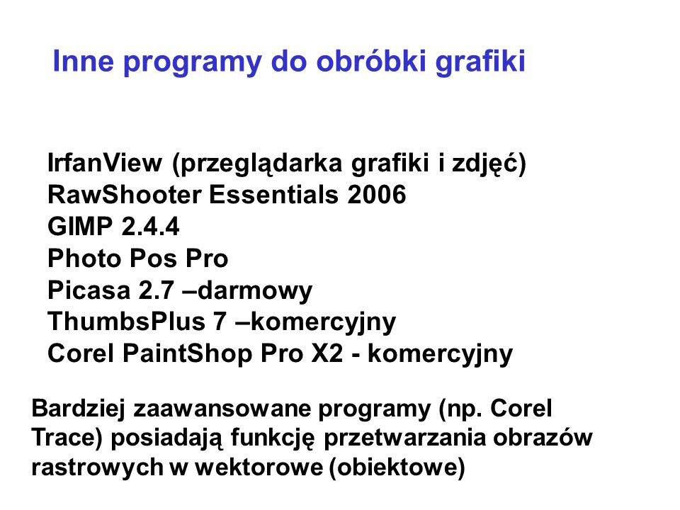 Inne programy do obróbki grafiki