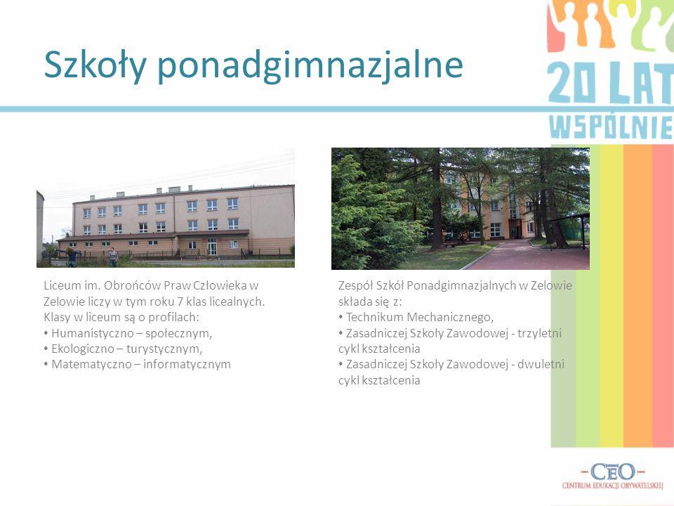 Szkoły ponadgimnazjalne