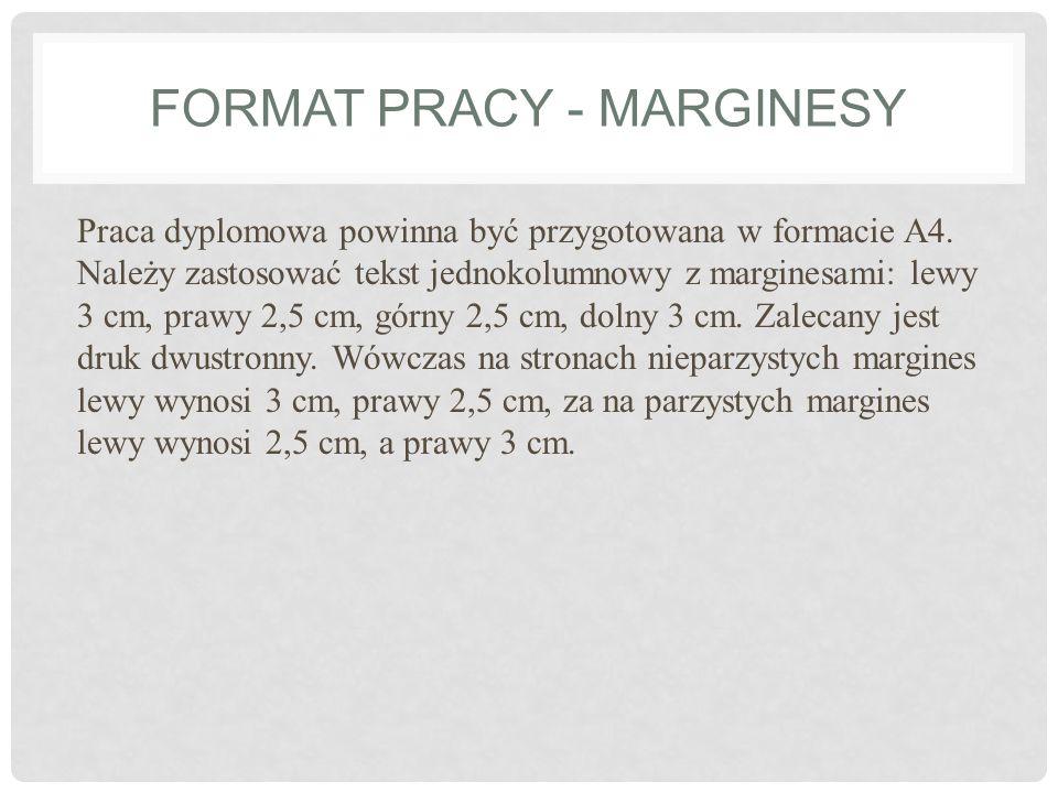 Format pracy - marginesy