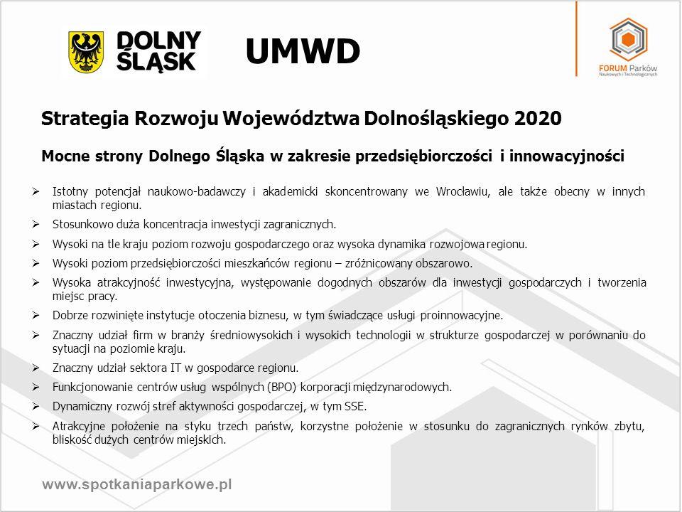 UMWD Strategia Rozwoju Województwa Dolnośląskiego 2020