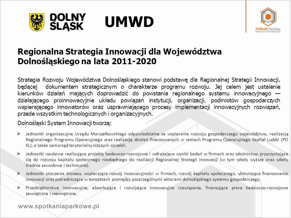 UMWD Regionalna Strategia Innowacji dla Województwa Dolnośląskiego na lata 2011-2020.