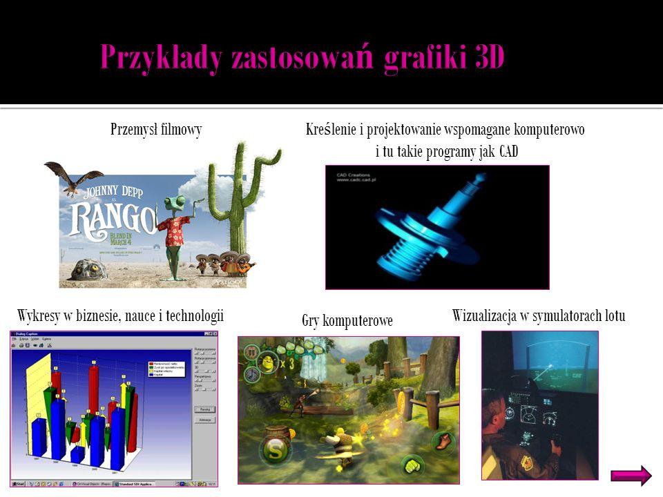 Przykłady zastosowań grafiki 3D