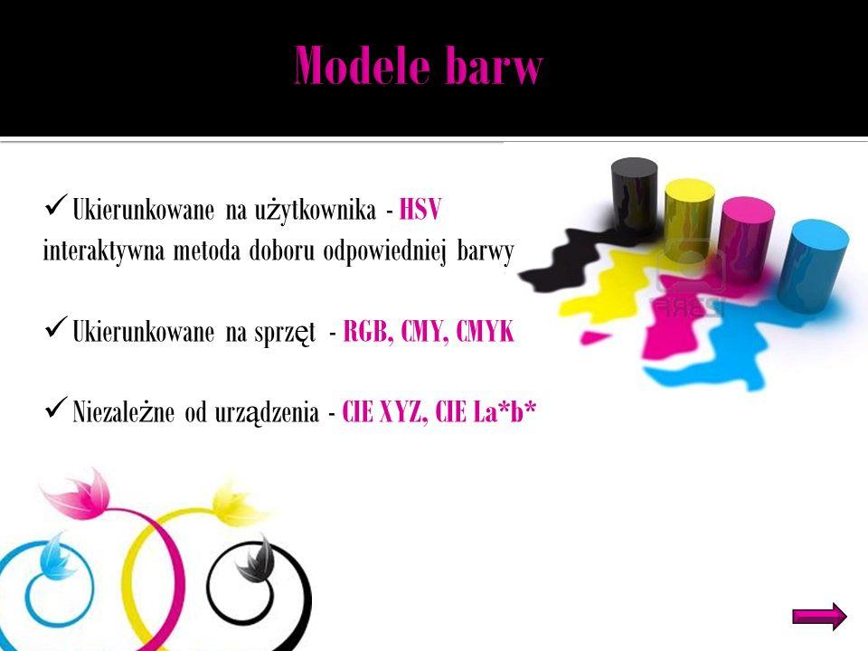 Modele barw Ukierunkowane na użytkownika - HSV