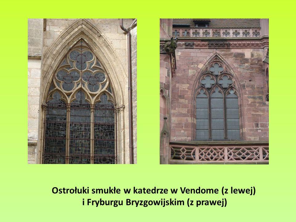 Ostrołuki smukłe w katedrze w Vendome (z lewej)