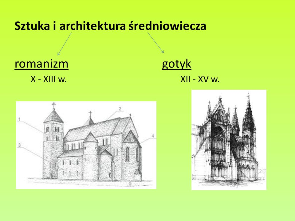 Sztuka i architektura średniowiecza romanizm gotyk