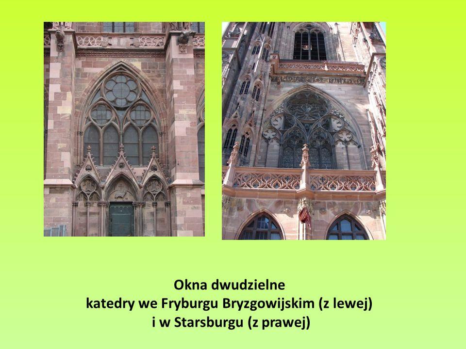 katedry we Fryburgu Bryzgowijskim (z lewej) i w Starsburgu (z prawej)
