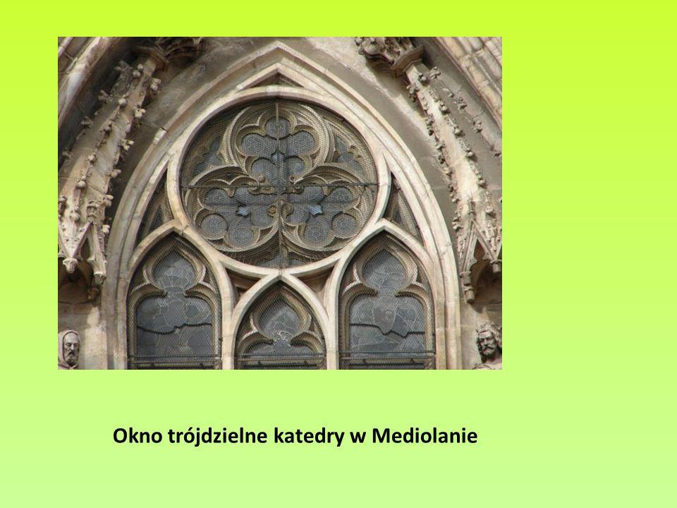 Okno trójdzielne katedry w Mediolanie
