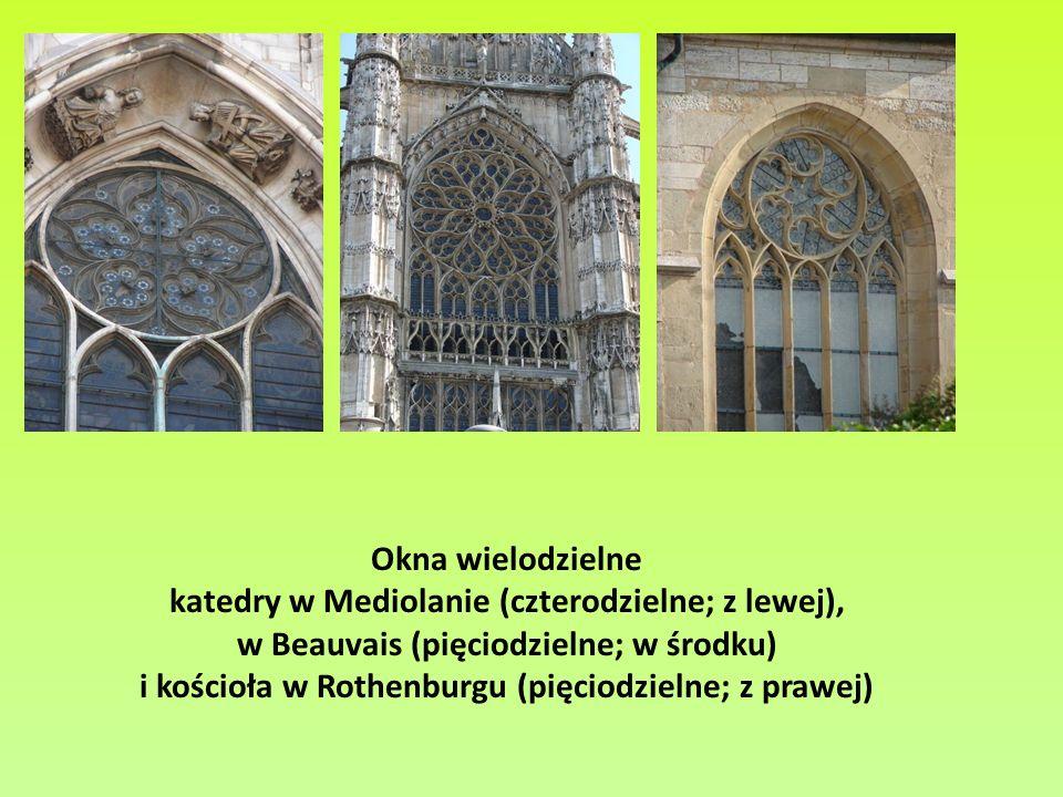 katedry w Mediolanie (czterodzielne; z lewej),