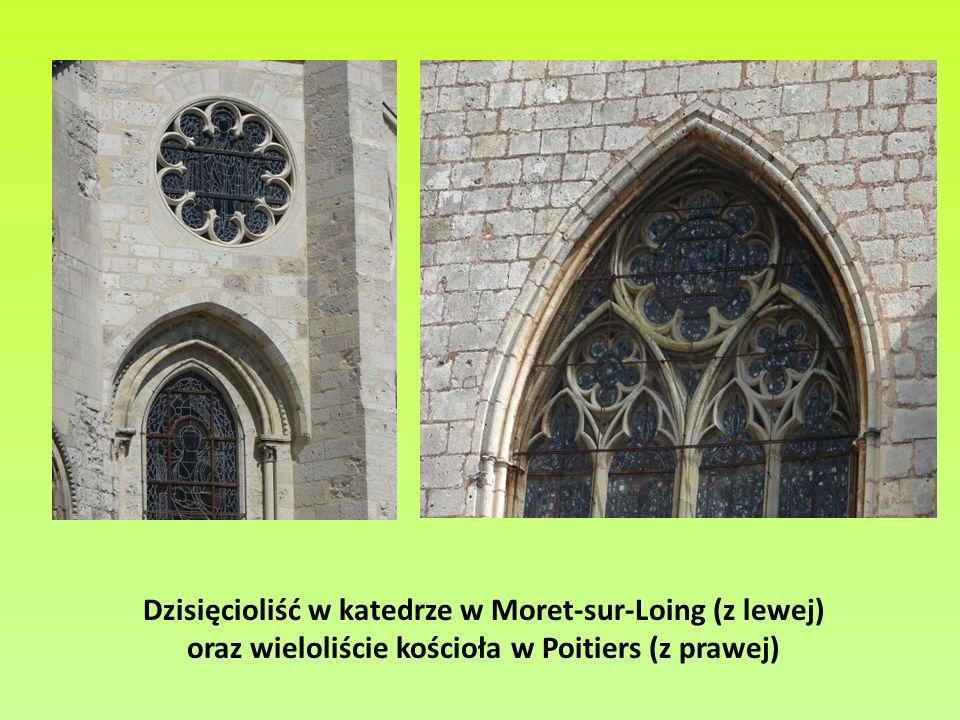 Dzisięcioliść w katedrze w Moret-sur-Loing (z lewej)