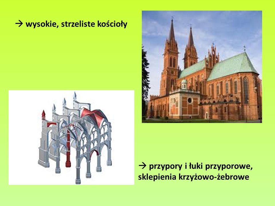  wysokie, strzeliste kościoły