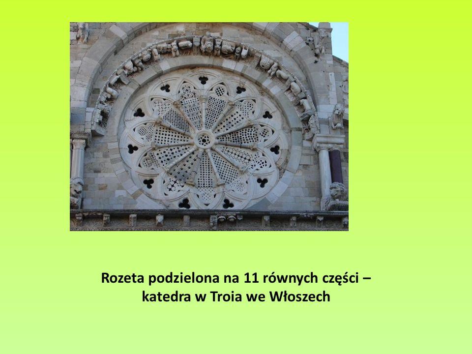 Rozeta podzielona na 11 równych części – katedra w Troia we Włoszech