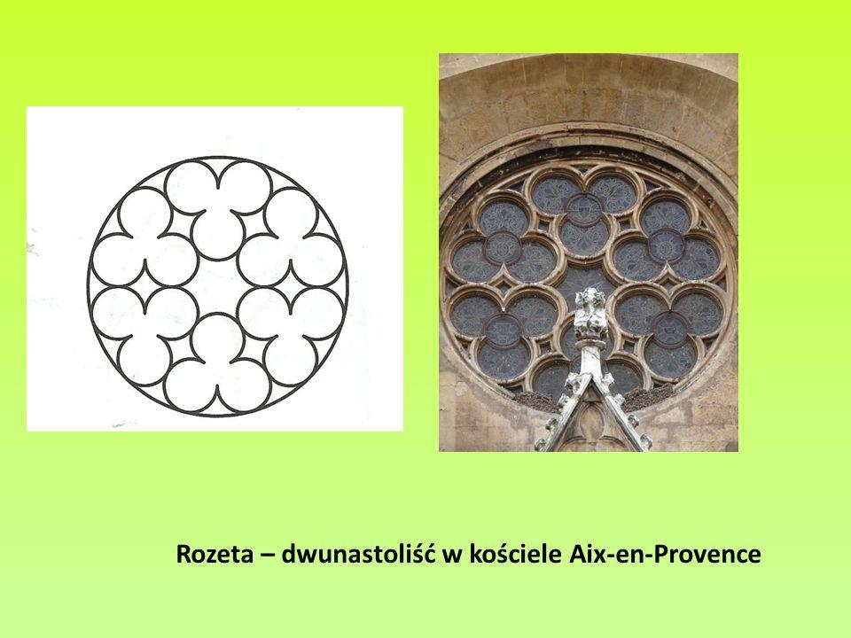 Rozeta – dwunastoliść w kościele Aix-en-Provence