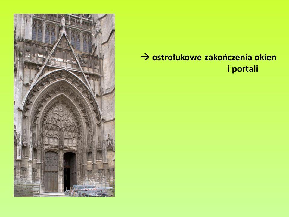  ostrołukowe zakończenia okien i portali
