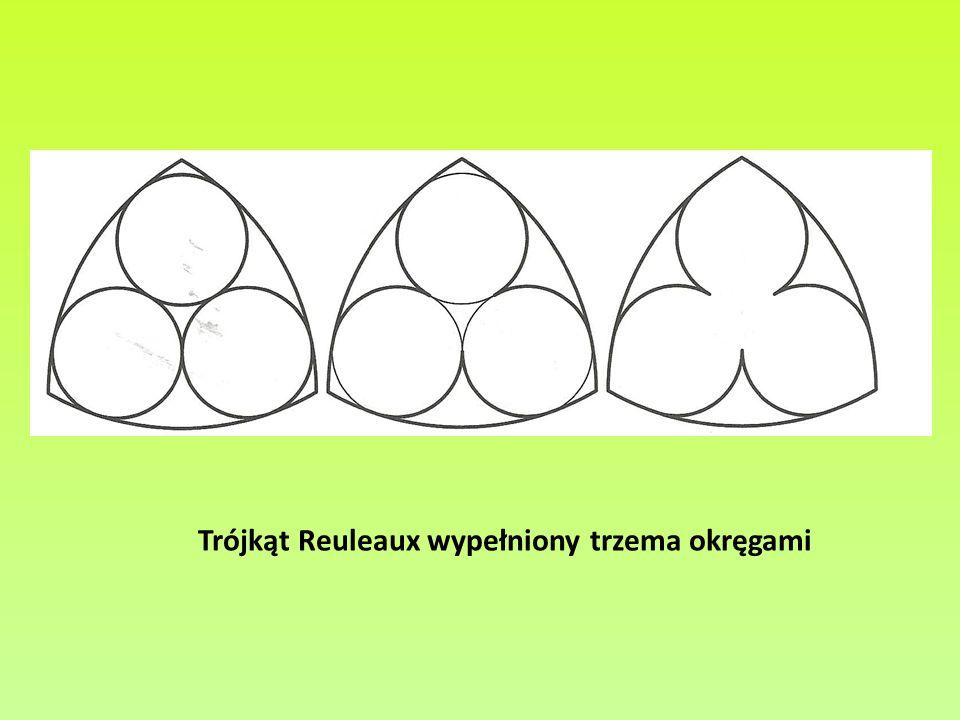 Trójkąt Reuleaux wypełniony trzema okręgami