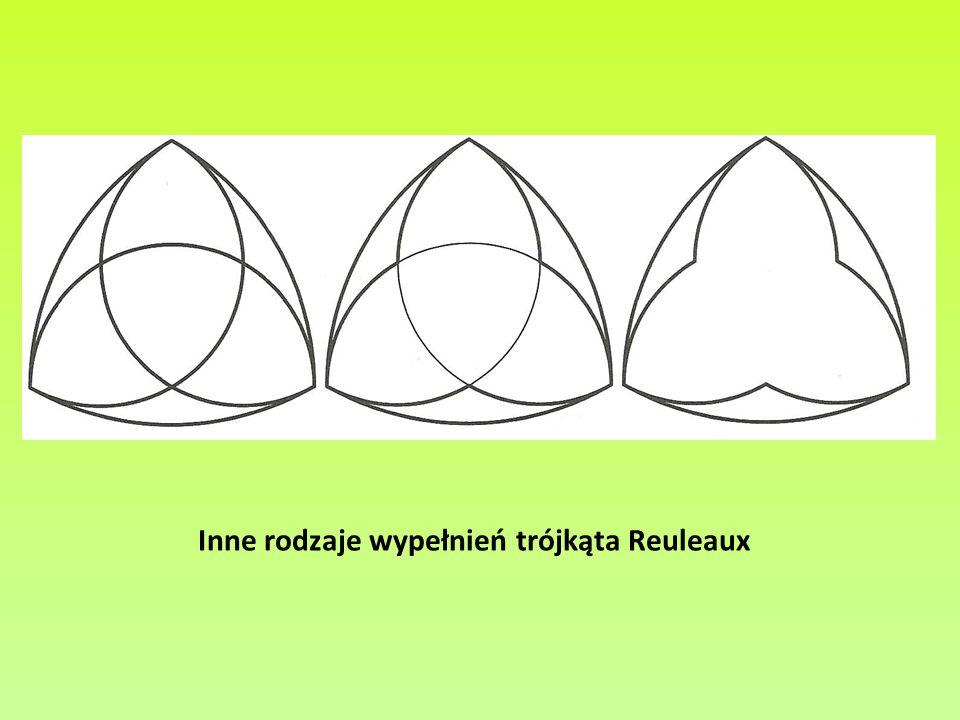 Inne rodzaje wypełnień trójkąta Reuleaux