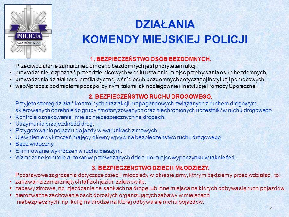KOMENDY MIEJSKIEJ POLICJI