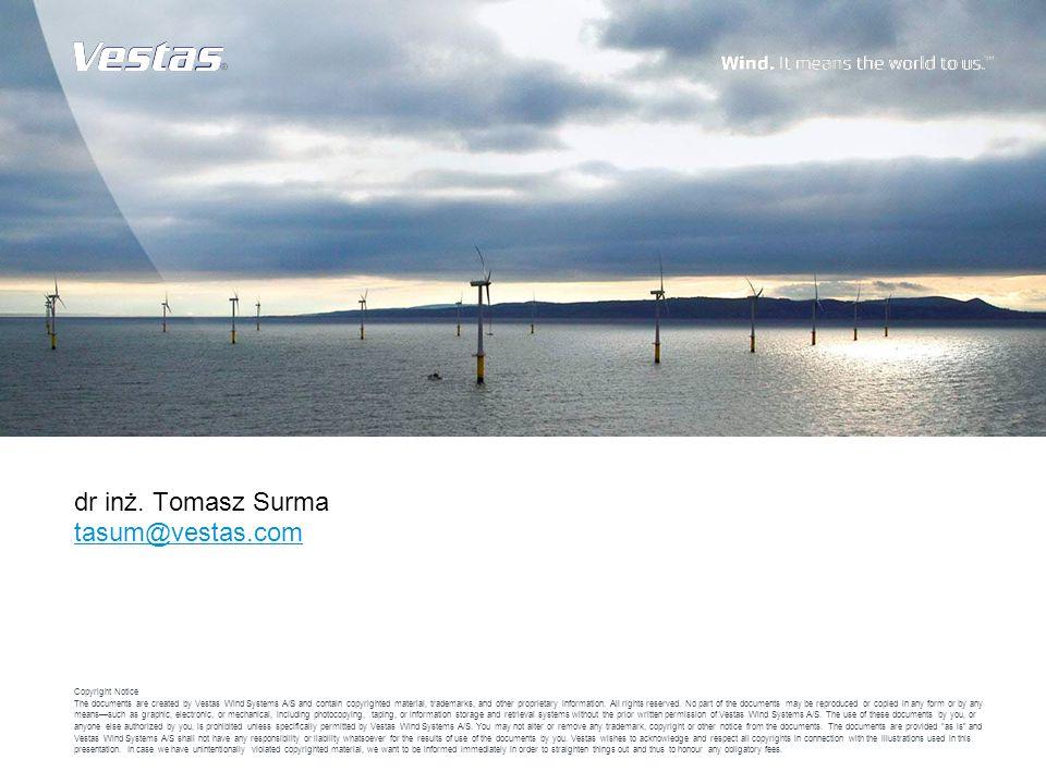 dr inż. Tomasz Surma tasum@vestas.com