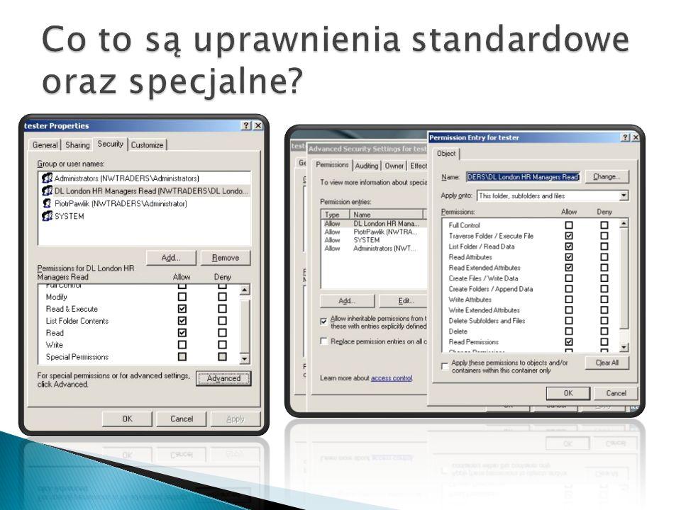 Co to są uprawnienia standardowe oraz specjalne