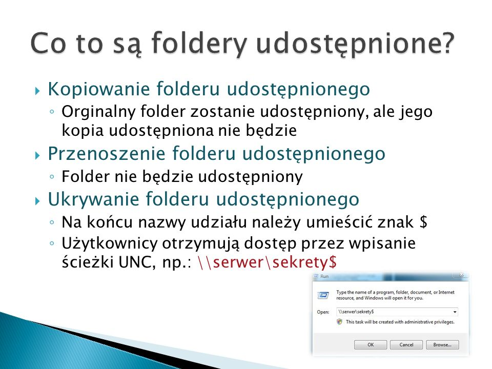 Co to są foldery udostępnione