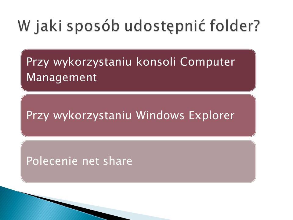 W jaki sposób udostępnić folder