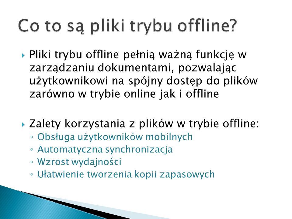 Co to są pliki trybu offline